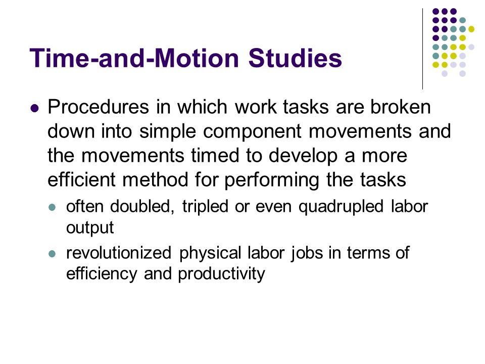 Time-and-Motion Studies
