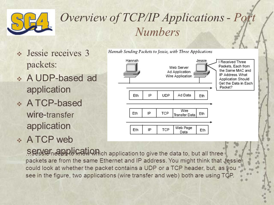 Overview of TCP/IP Applications - Port Numbers