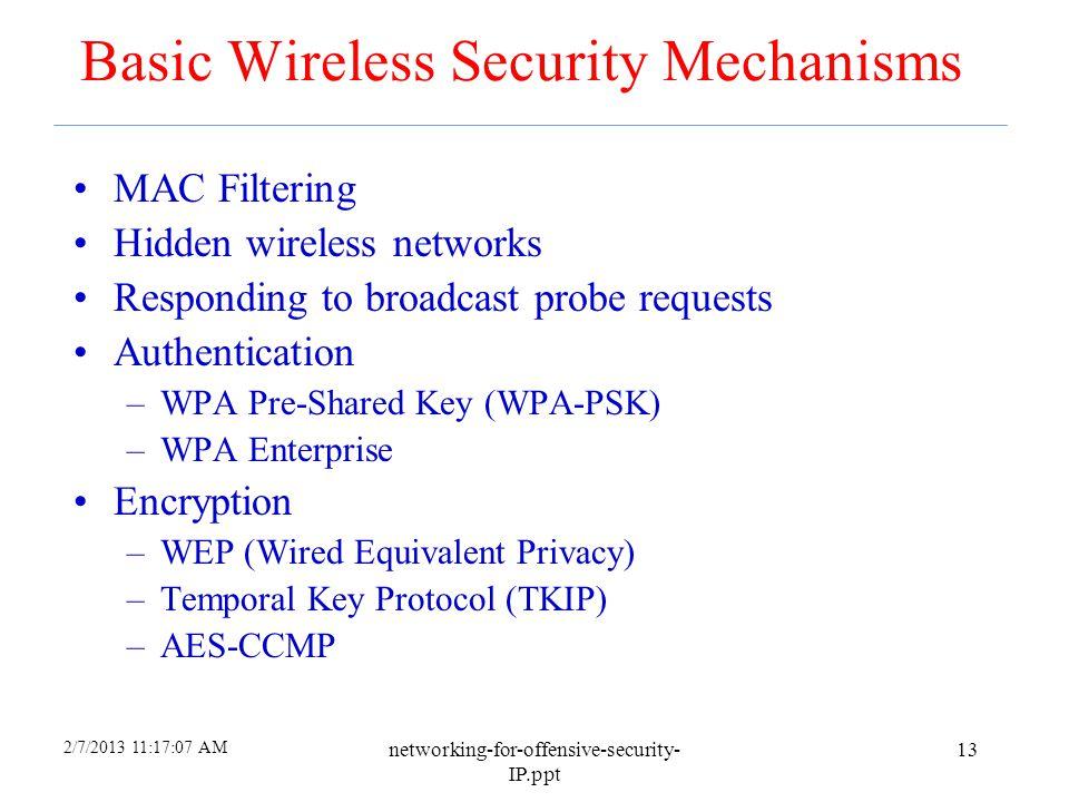 Basic Wireless Security Mechanisms