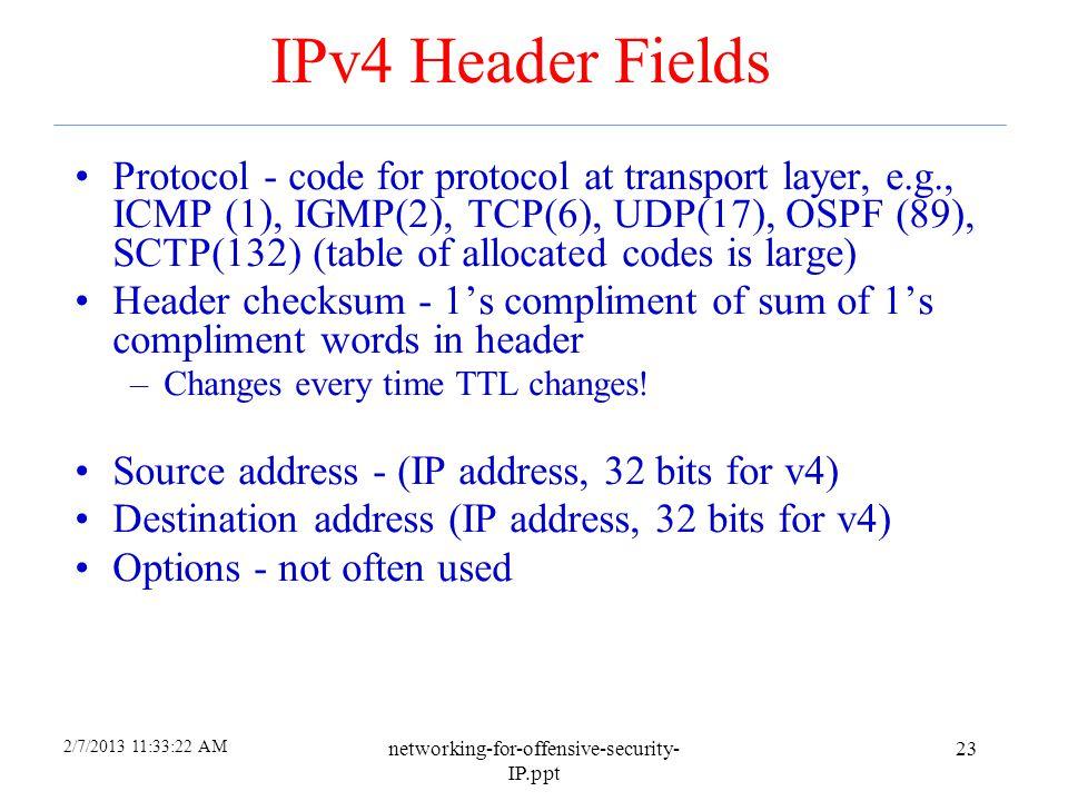 4/6/2017 IPv4 Header Fields.