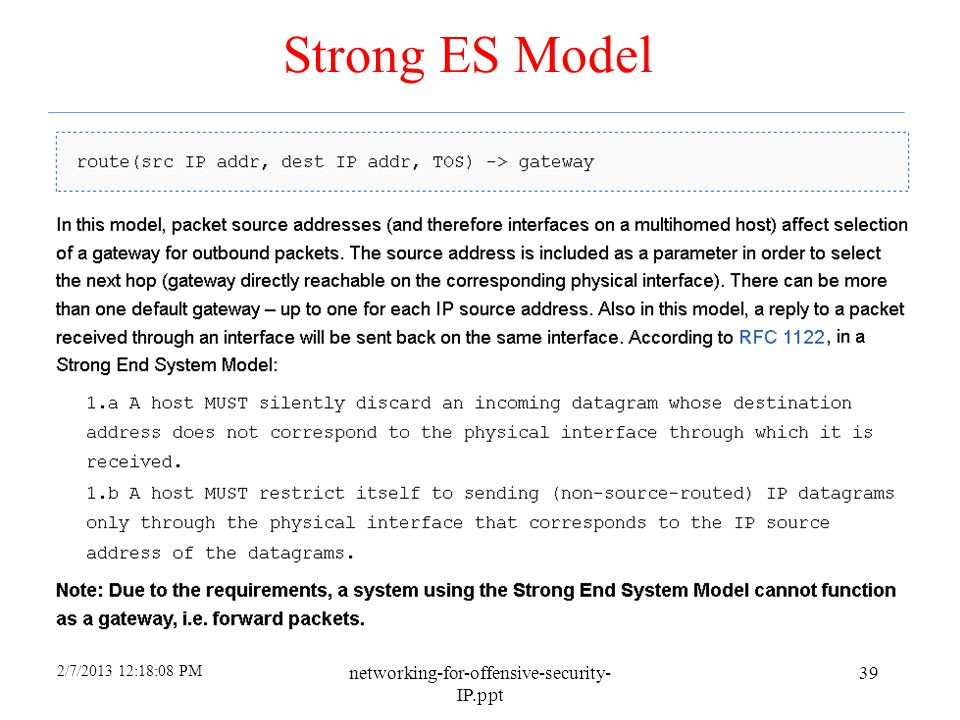 Strong ES Model networking-for-offensive-security-IP.ppt 4/6/2017
