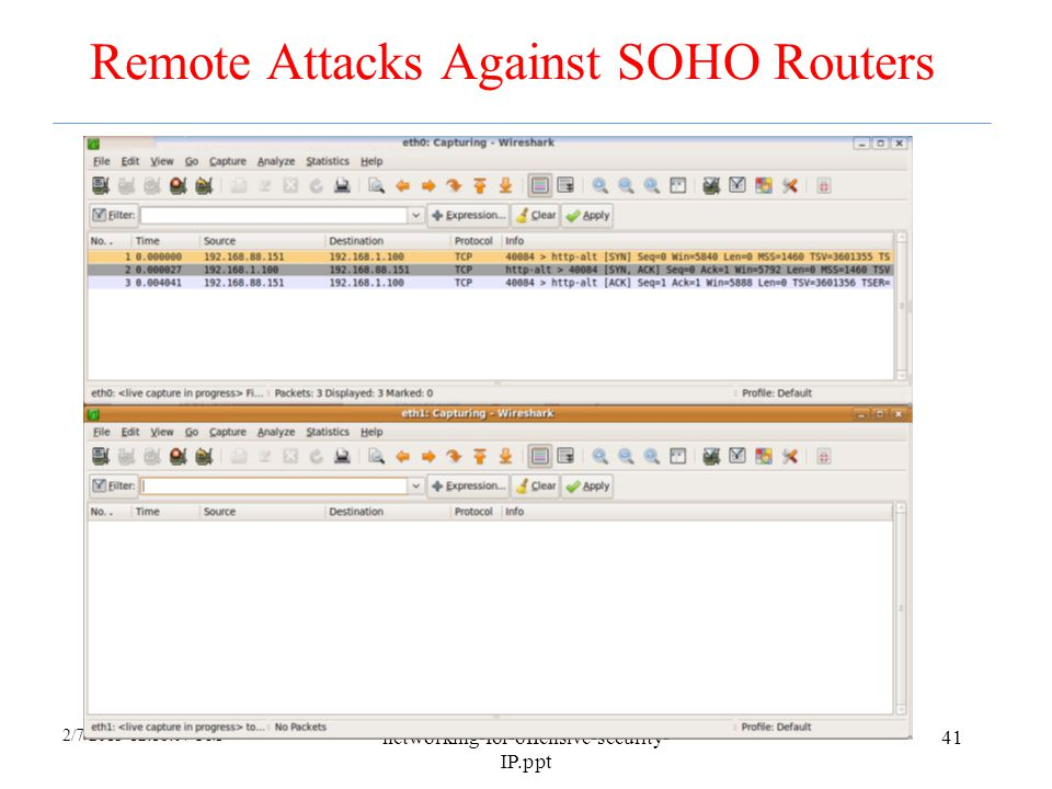 Remote Attacks Against SOHO Routers