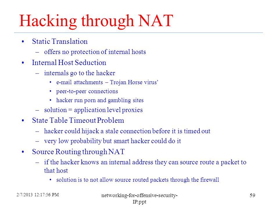 Hacking through NAT Static Translation Internal Host Seduction