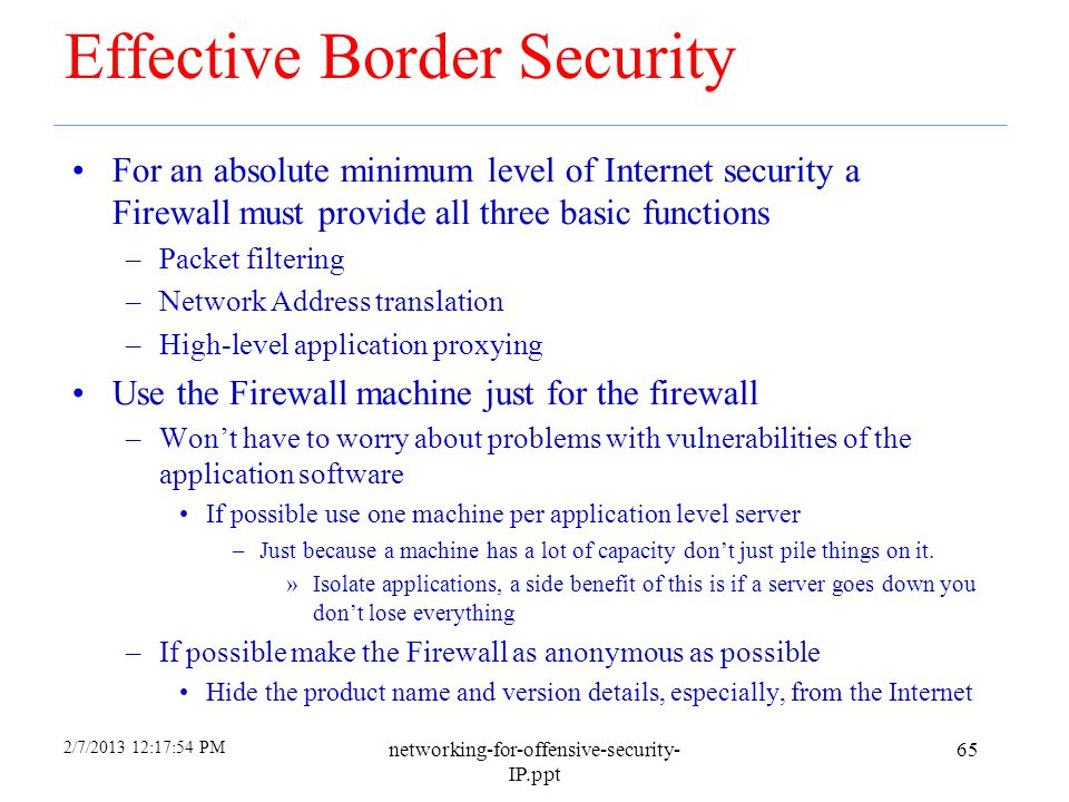 Effective Border Security