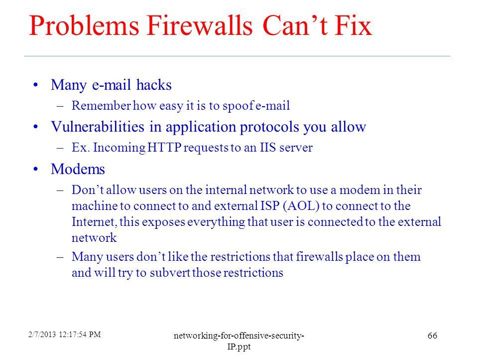 Problems Firewalls Can't Fix