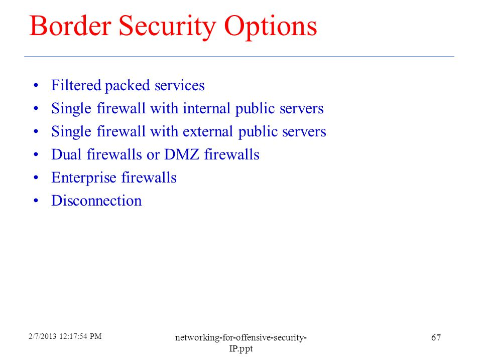 Border Security Options