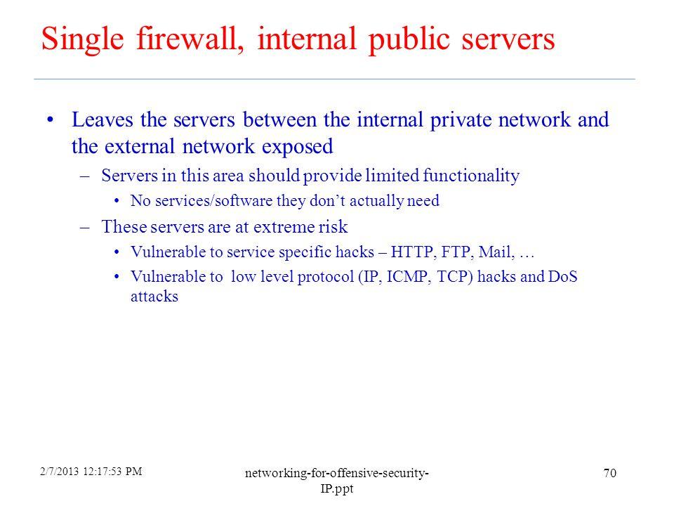 Single firewall, internal public servers