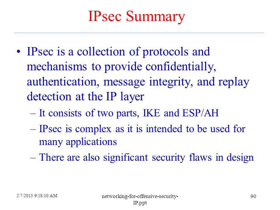 4/6/2017 IPsec Summary.