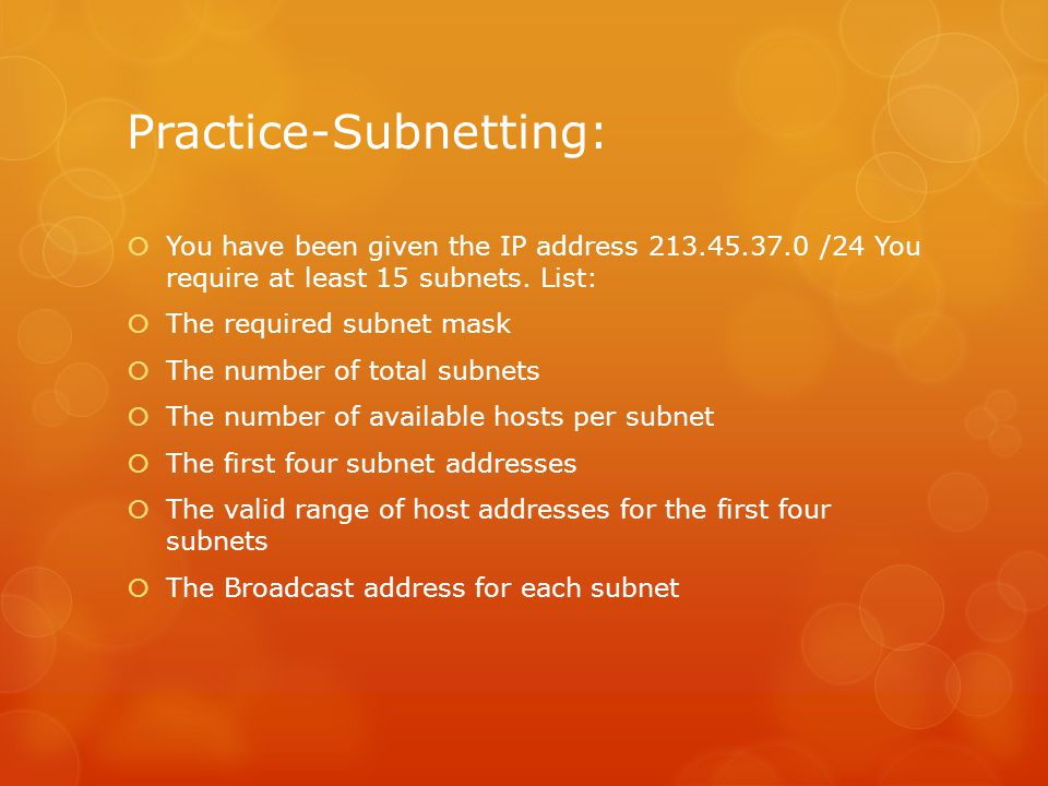 Practice-Subnetting: