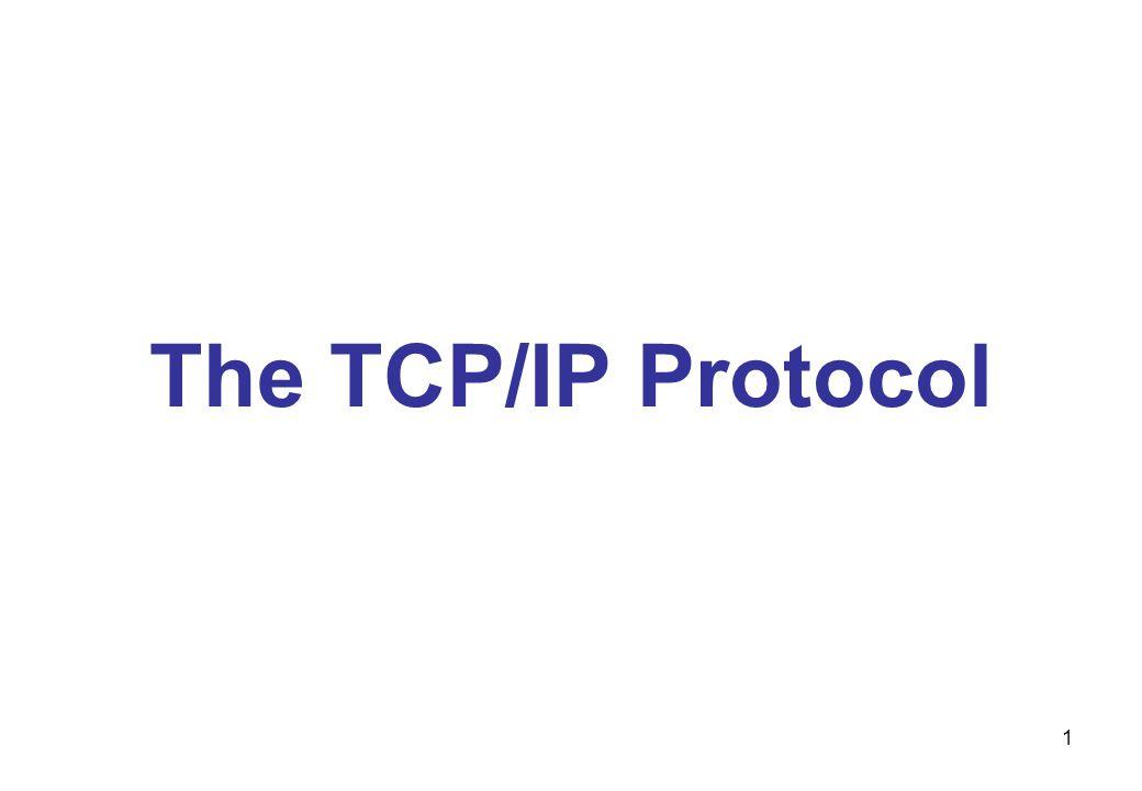 The TCP/IP Protocol