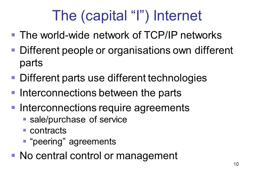 The (capital I ) Internet