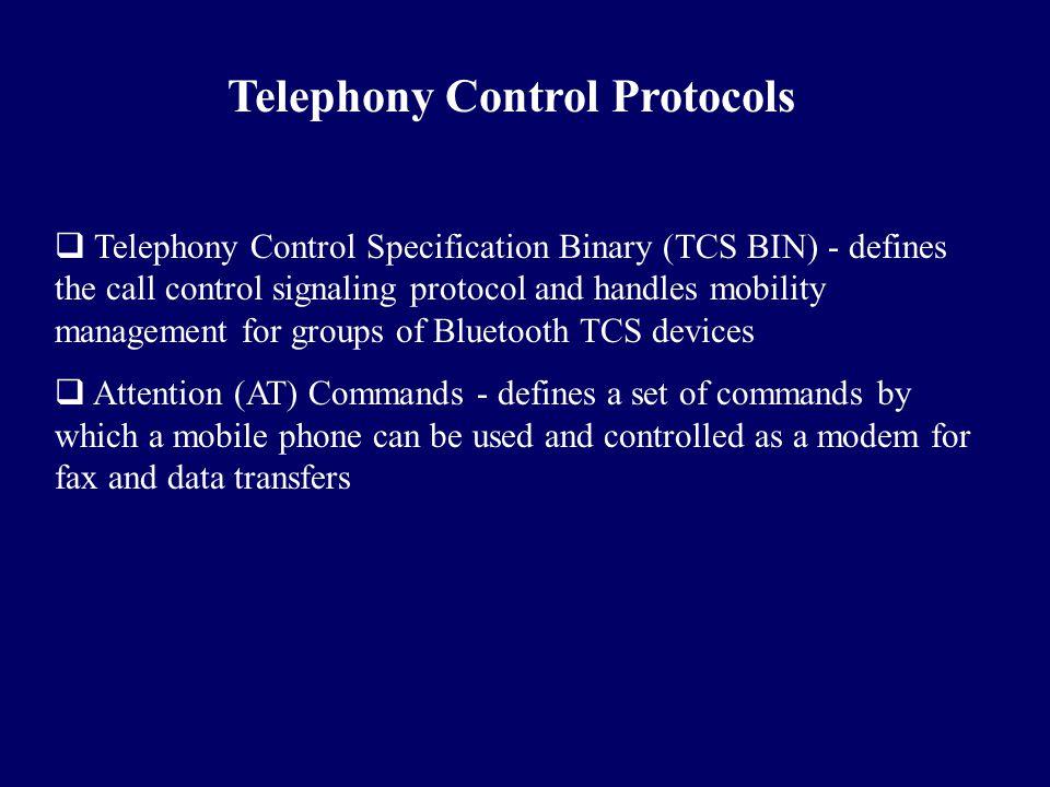 Telephony Control Protocols