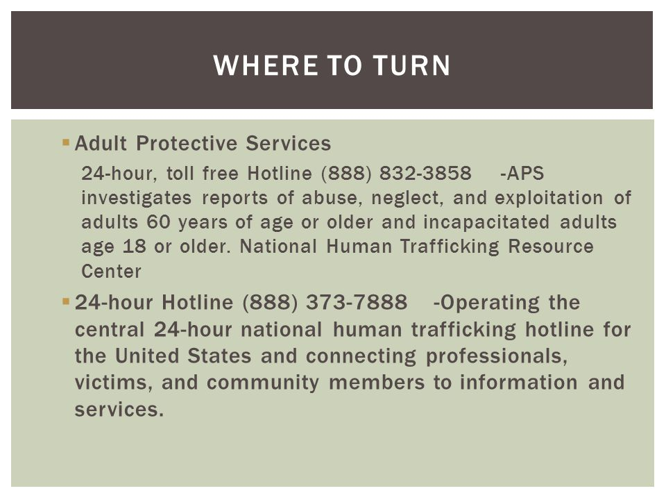 Where to turn Adult Protective Services