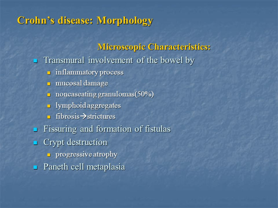 Crohn's disease: Morphology