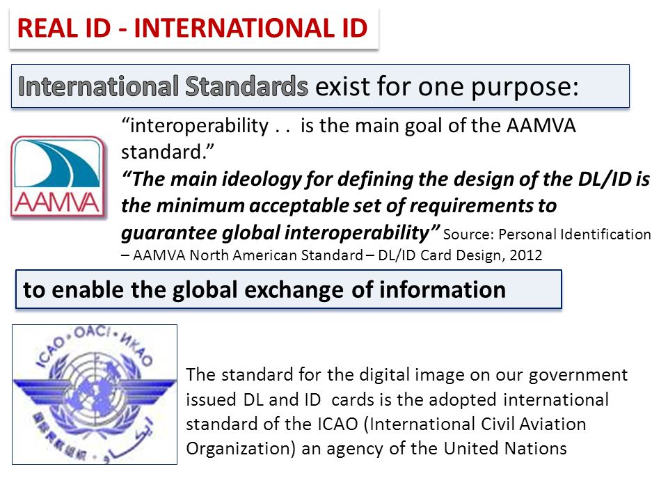 REAL ID - INTERNATIONAL ID