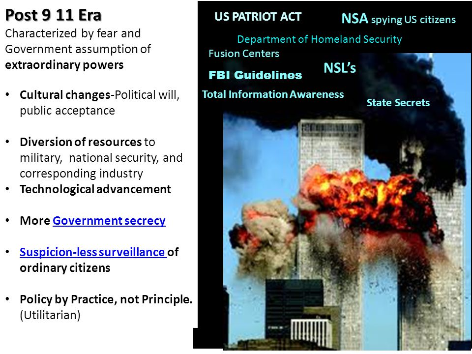 Post 9 11 Era NSA spying US citizens NSL's US PATRIOT ACT