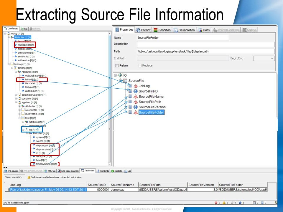 Extracting Source File Information