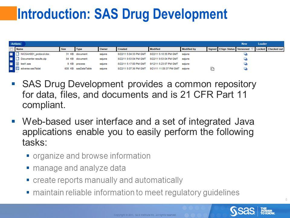 Introduction: SAS Drug Development