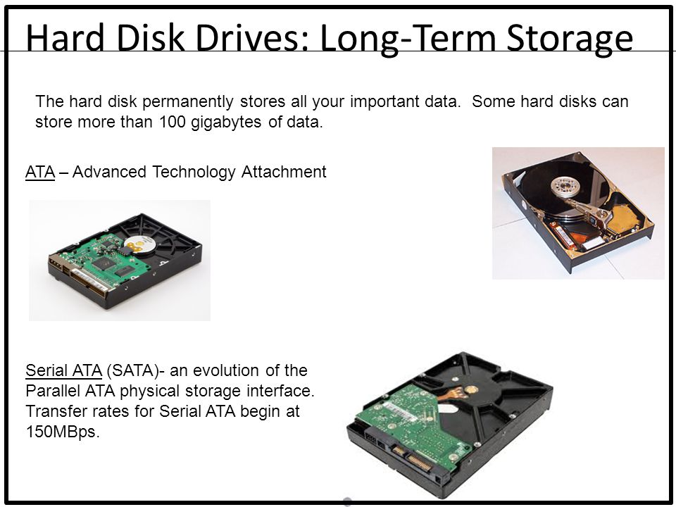 Hard Disk Drives: Long-Term Storage