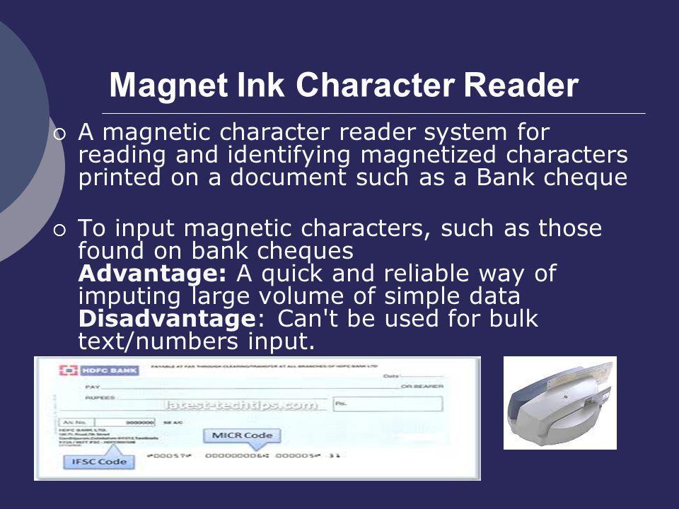 Magnet Ink Character Reader