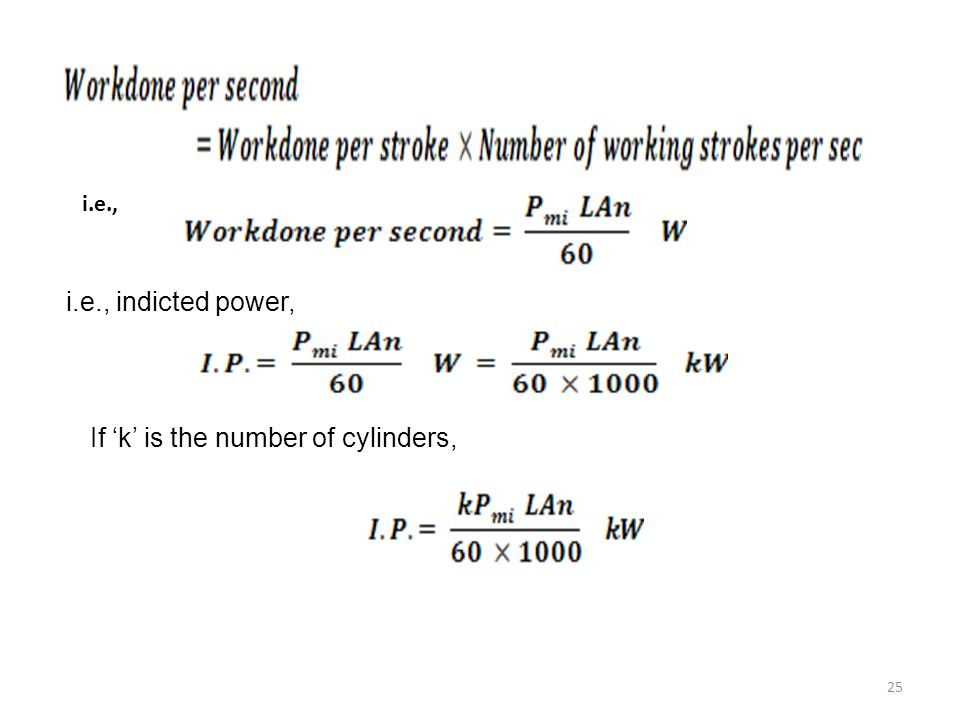 If 'k' is the number of cylinders,