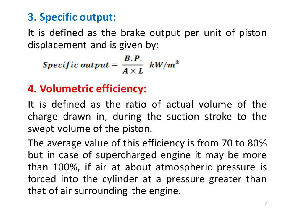 4. Volumetric efficiency: