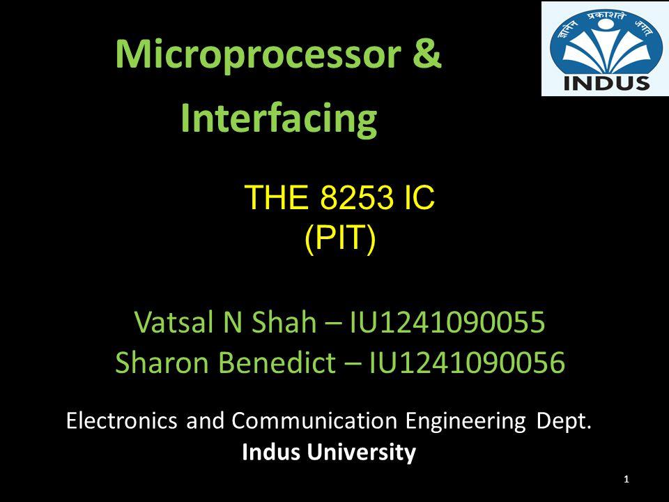 Microprocessor & Interfacing