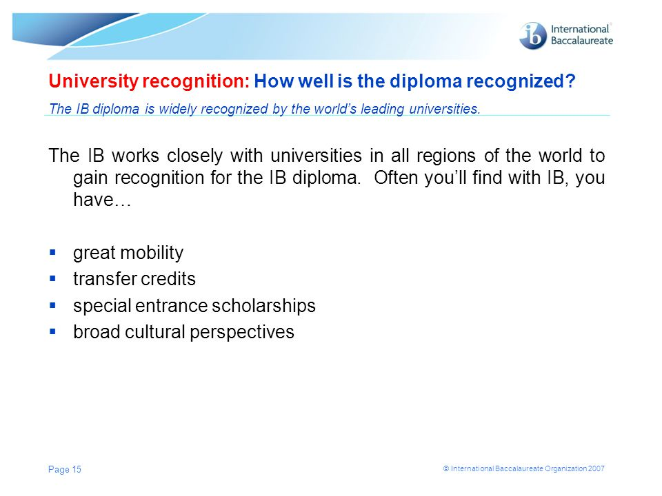 University recognition: How well is the diploma recognized