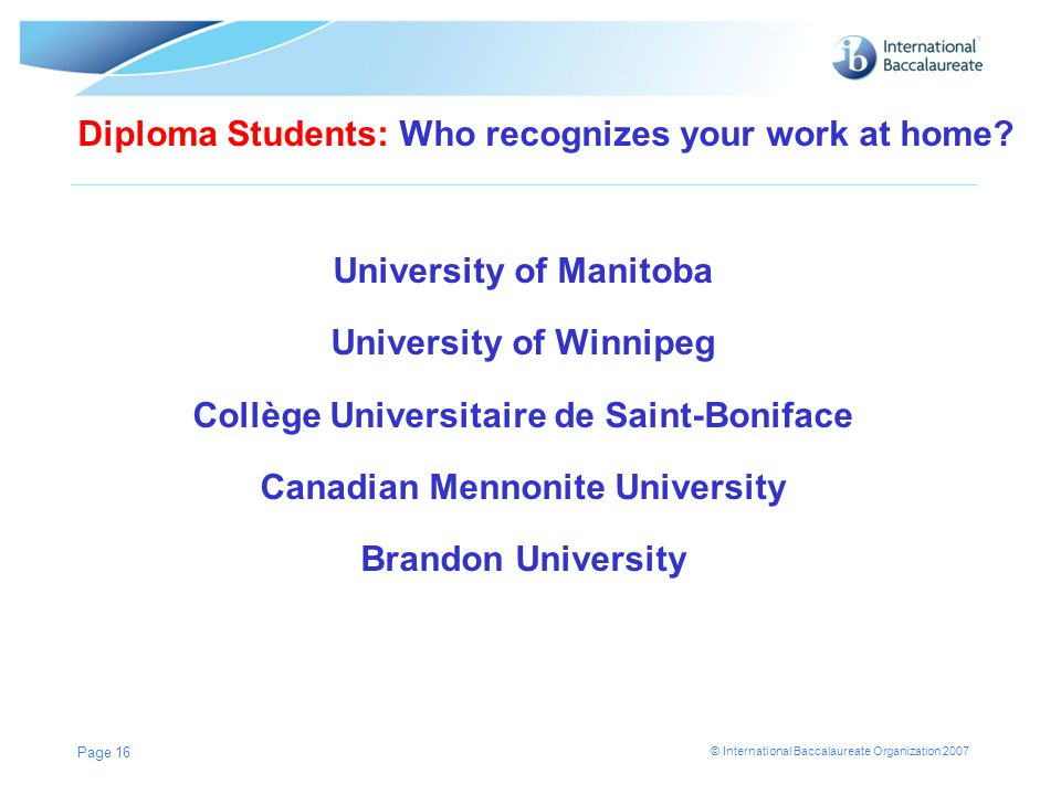 Diploma Students: Who recognizes your work at home