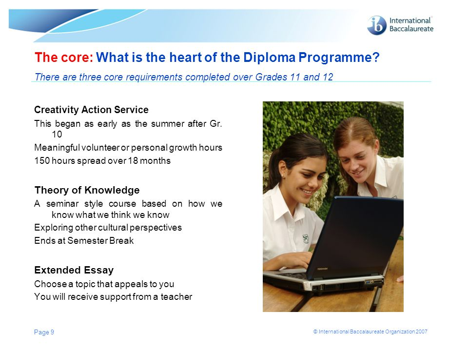 The core: What is the heart of the Diploma Programme
