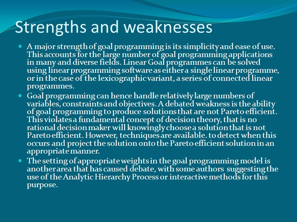 strenghs and weaknesses of accounting