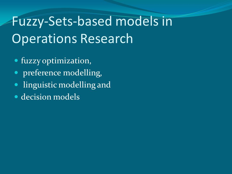 Fuzzy-Sets-based models in Operations Research