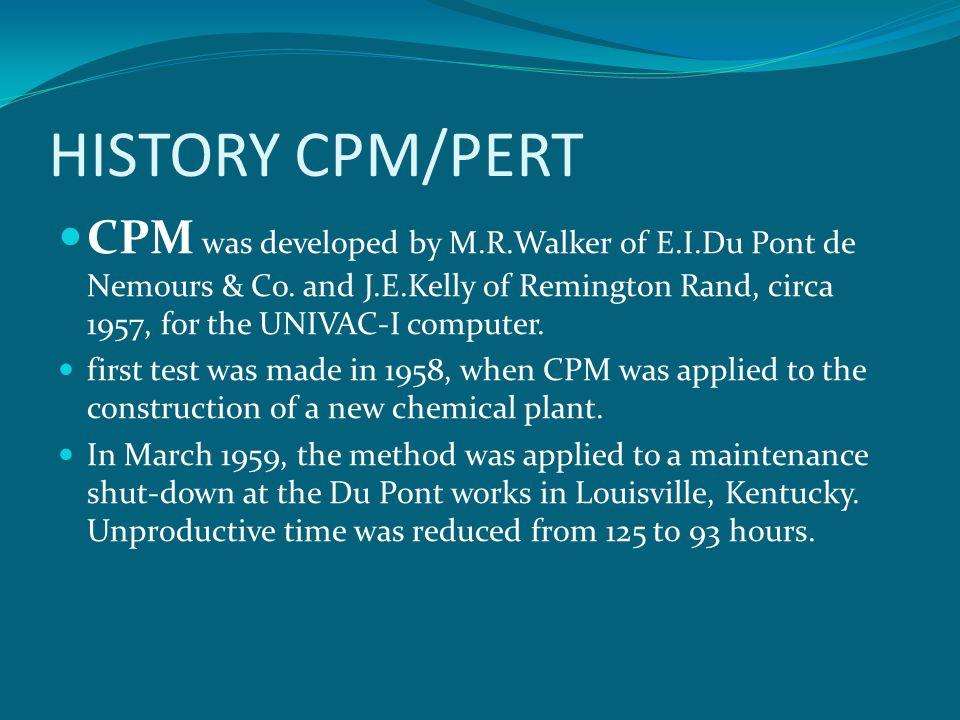 HISTORY CPM/PERT