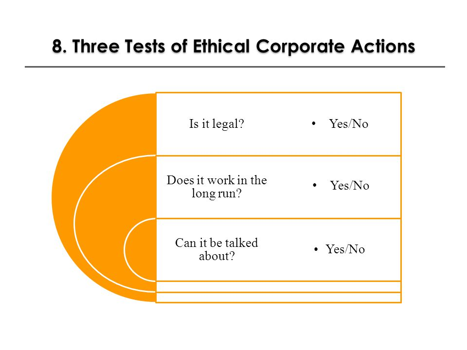 8. Three Tests of Ethical Corporate Actions
