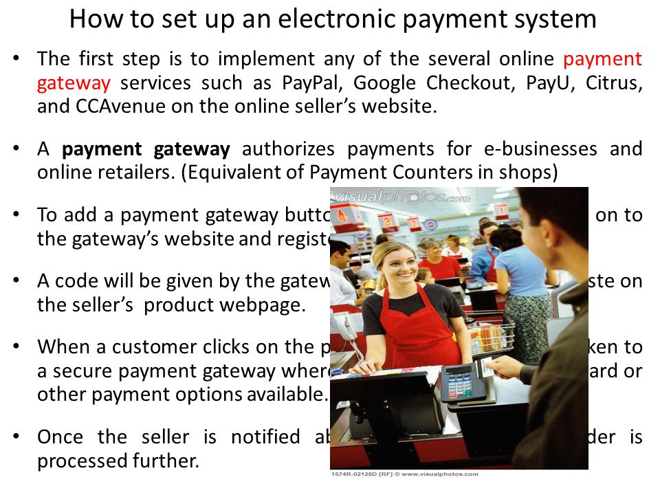 How to set up an electronic payment system