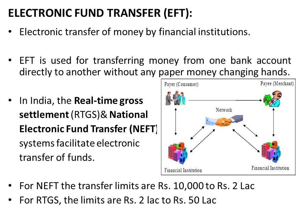 ELECTRONIC FUND TRANSFER (EFT):