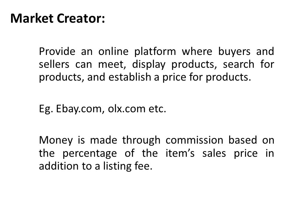 Market Creator: