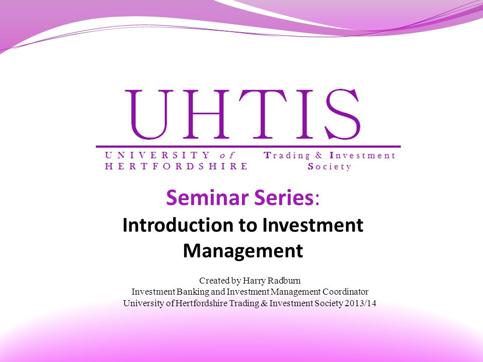 Introduction to Investment Management