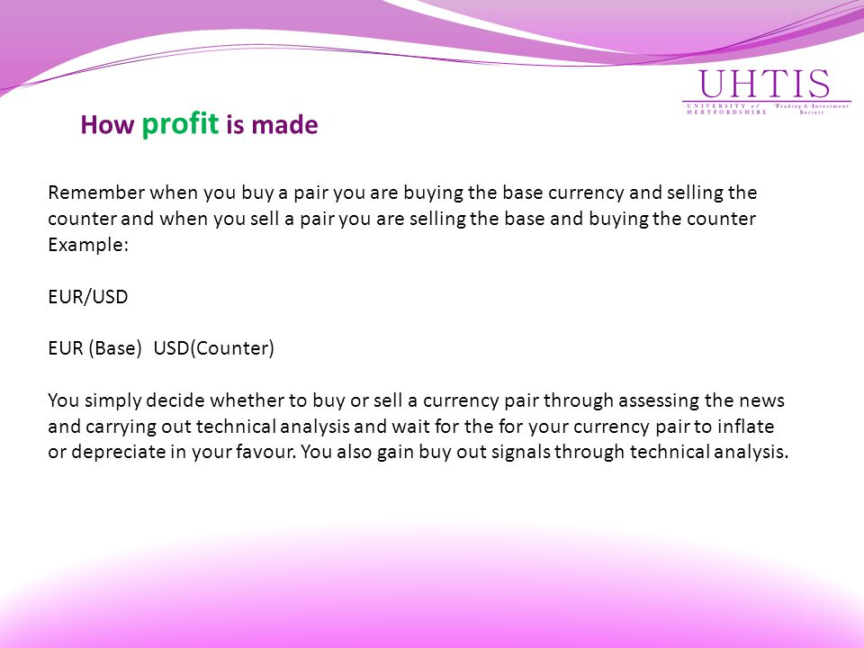 How profit is made