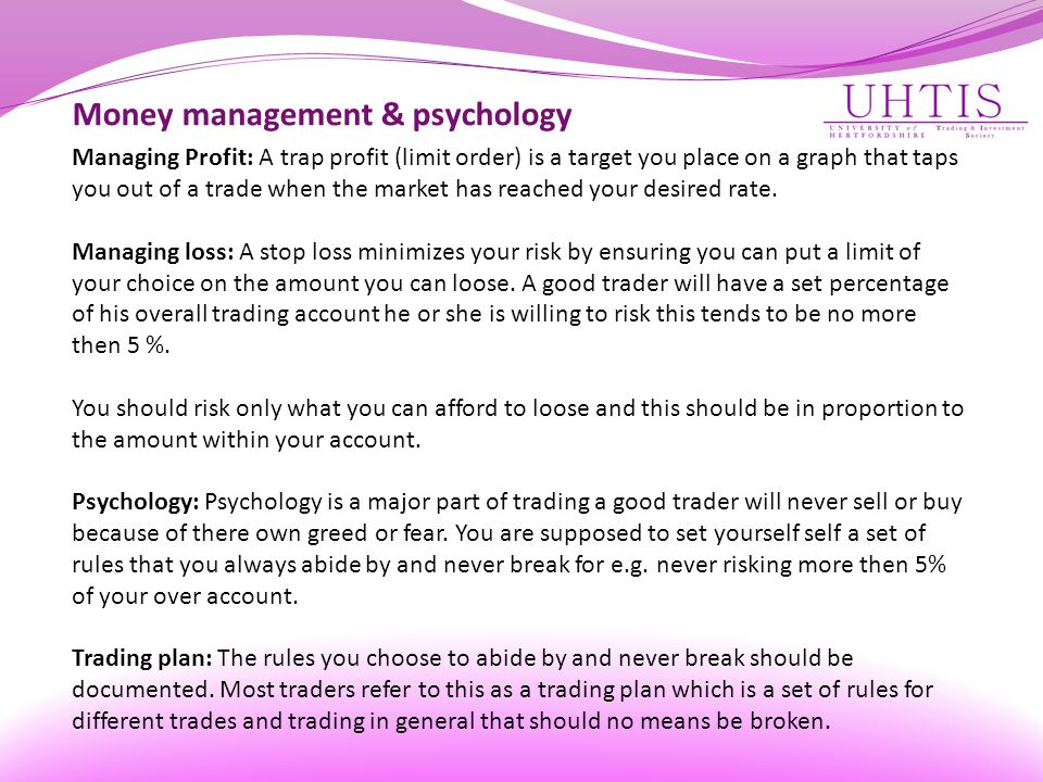 Money management & psychology