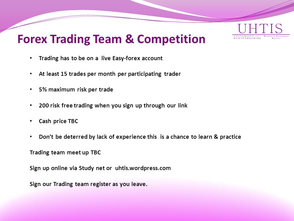 Forex Trading Team & Competition