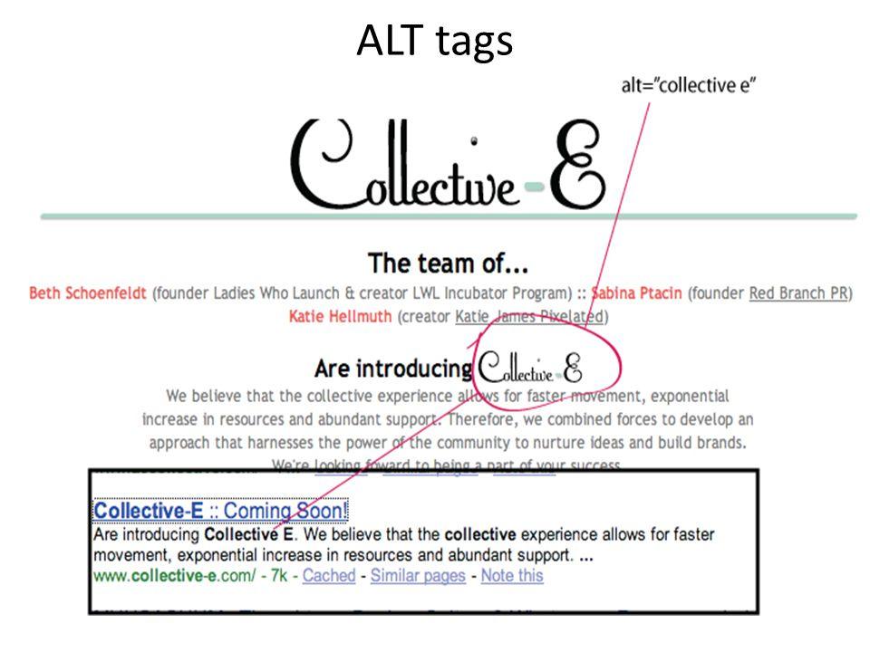 ALT tags