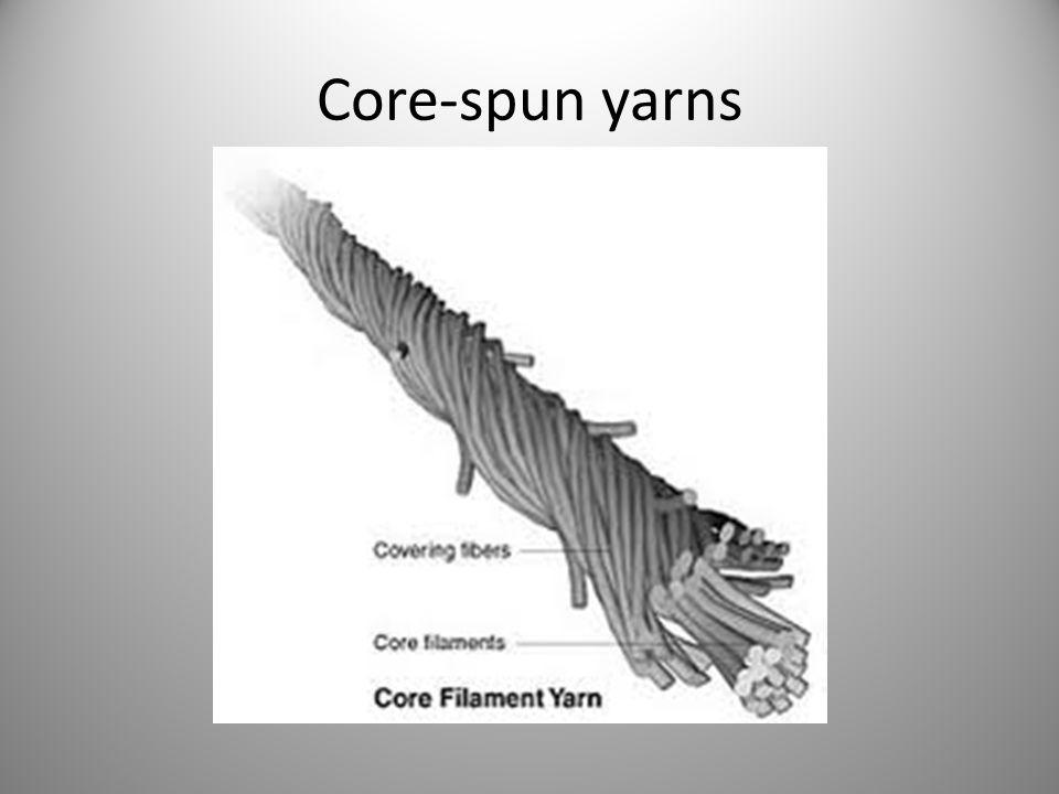 Core-spun yarns