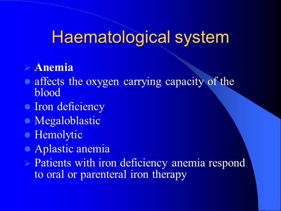 Haematological system