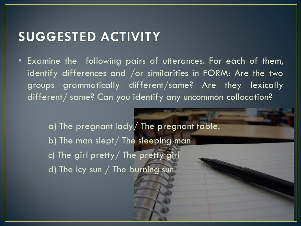 SUGGESTED ACTIVITY