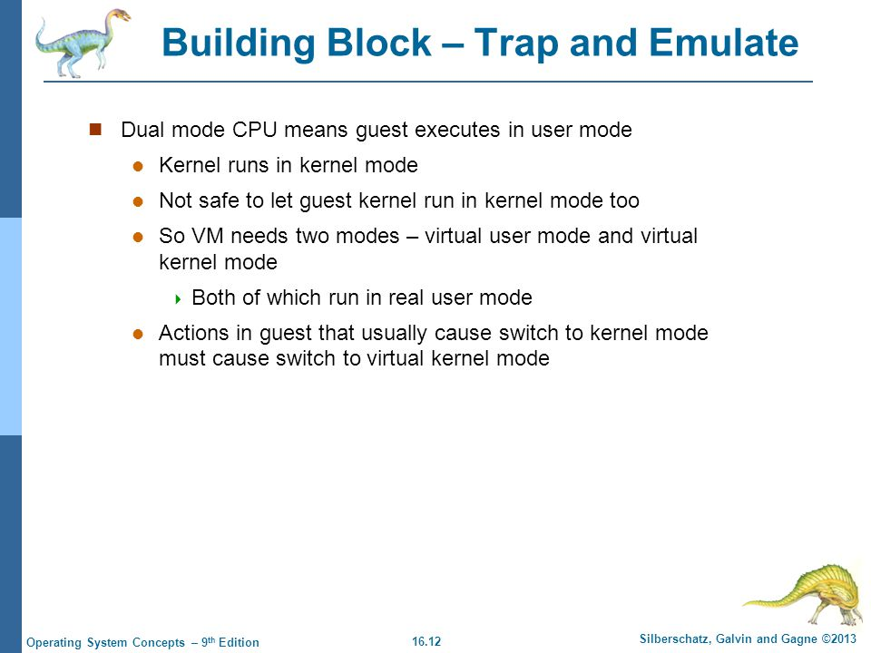 Building Block – Trap and Emulate