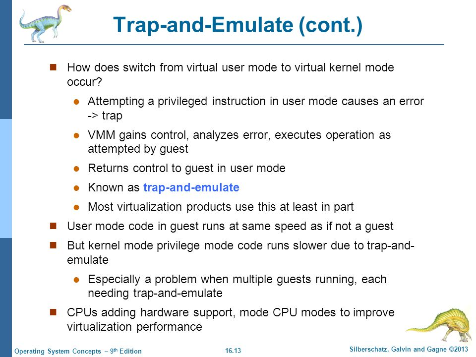 Trap-and-Emulate (cont.)