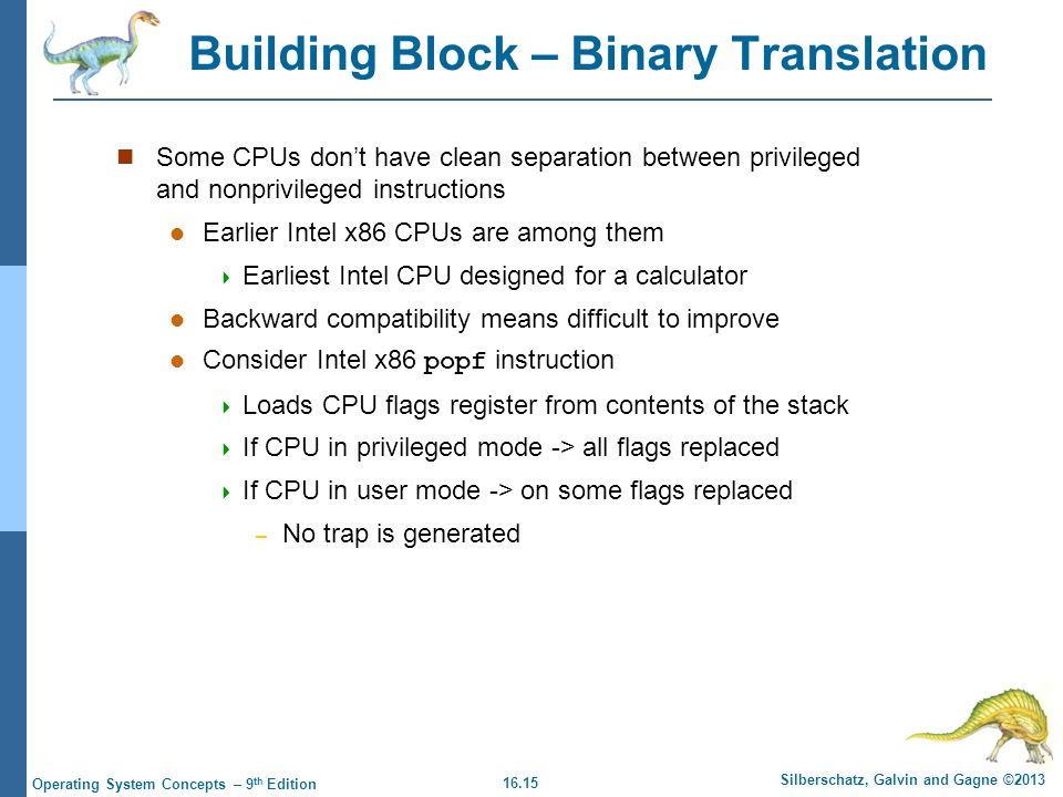 Building Block – Binary Translation