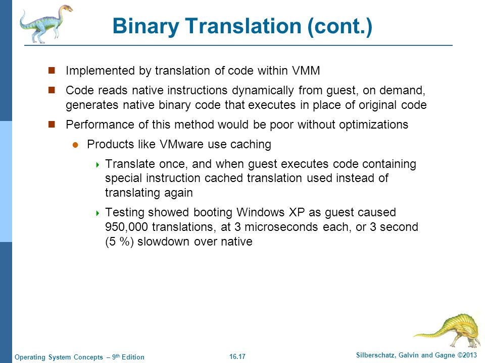 Binary Translation (cont.)
