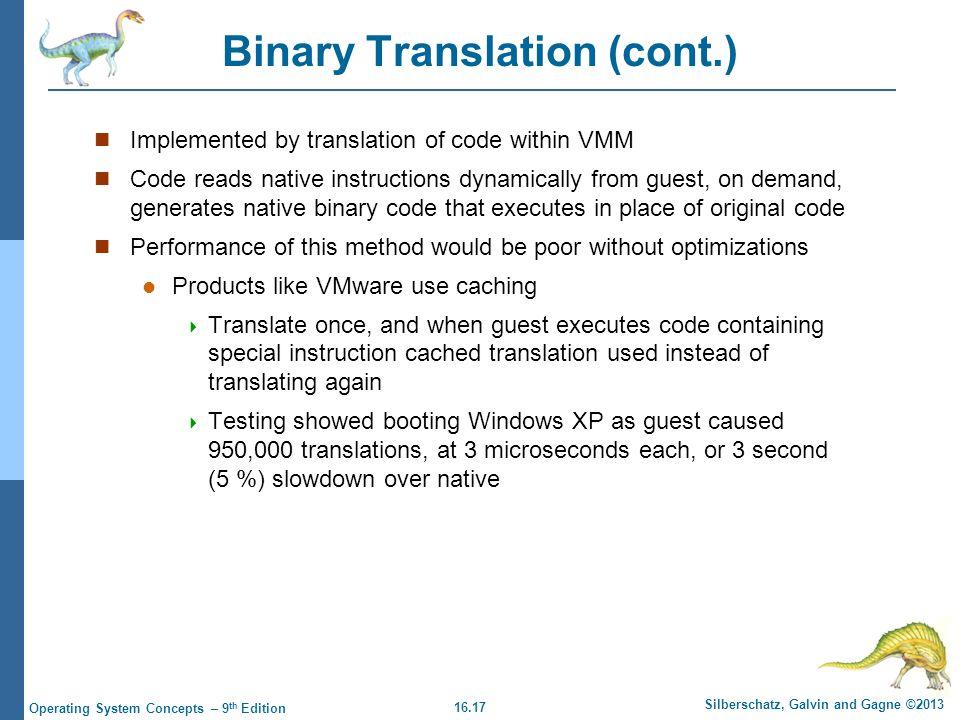 Binary Translation (cont.)